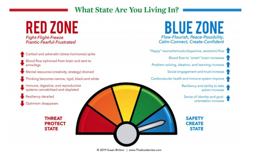 Red Zone and Blue Zone
